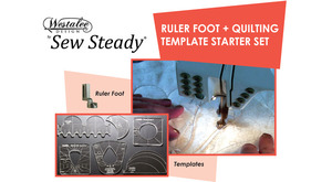 "Westalee Ruler Foot, Sew, Steady, Westalee, WT, Starter, Set, Free, Motion, Wish, Accessories, Ruler, Foot, 7, Templates, 4"", 12"", Arc, Spin, E, fex, 4, Spinning, Wheels, Clam, shell, 2"", Circle"