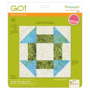 "Accuquilt, GO, 55339, Churn, Dash, Die, 9"", Finished, Cutters"