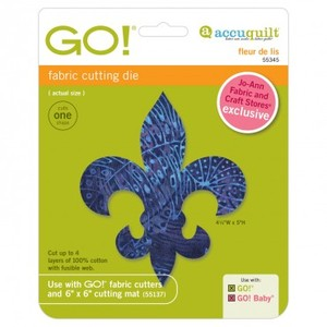 Accuquilt GO! 55345 Fleur De Lis Fabric Cutting Die for Cutters
