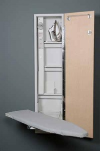 iron-away; iron away; ironaway; iron-a-way; ironing; ironing board; ironing center; built-in ironing board; built-in ironing center; fold away ironing board; hide away ironing board; wall mount ironing board, AE-42
