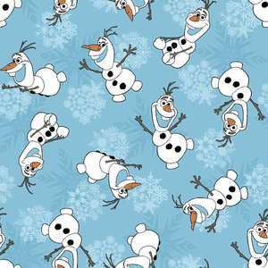 Disney Frozen Olaf Snowflakes Fabric Panel by the Yard 53326G010715 Springs Mills