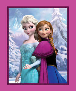 Disney Frozen Sisters Snowy Scenic Fabric Panel by the Yard 52337C470715 Springs Mills