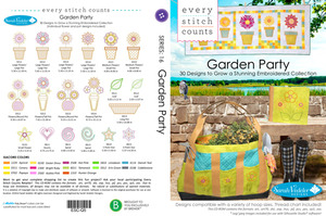 Every Stitch Counts ESC-Q5 ESC Garden Party 2014 Multiformat Embroidery Design CD