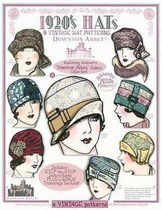 Andover Downton Abbey 1920's Vintage Hats Pattern Book