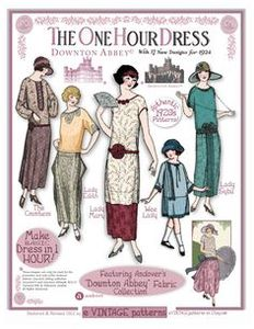 Andover Downton Abbey 1920's The One Hour Dress Vintage Pattern Book