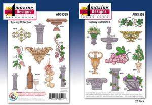 Amazign Designs ADC1355 Tuscany Collection I Embroidery Disk