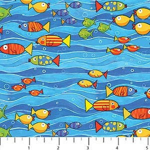 Northcott 20727-44 Baby Zoom Submarine cotton fabric by the yard
