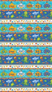 Northcott 20724-44 Baby Zoom Submarine cotton fabric by the yard