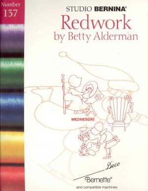 Bernina Deco 137 Redwork by Betty Alderman Embroidery Cards