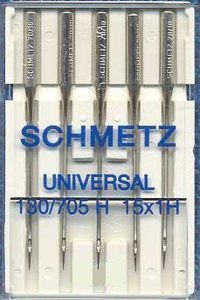 Schmetz 130-G5-110 5-Pack Universal Sewing Machine Needles Size 110/18