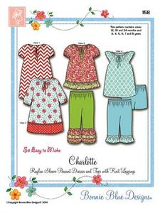 Bonnie Blue BBDP158 Charlotte sz 12m-8yrs pattern