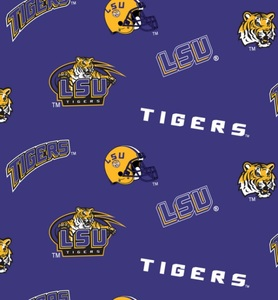 Sykel LSU-045 College Prints 100% cotton by the yard