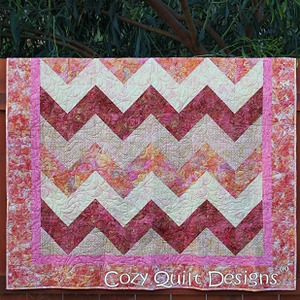 Cozy Quilt CQD01085 Strip Tube Chevron Pattern