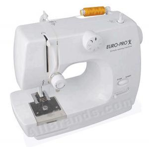Euro Pro EP150 Best Buy 4-Pound Metal PartsTiny Sewing Machine, Drop-in Bobbin, 8 Stitch, Stitch Length, Reverse, Start/Stop & Built-in Light toThread