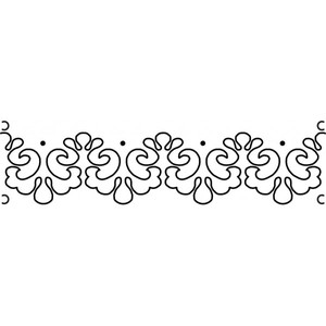 Quilt-Ez ABT06-225A, Anne Bright Lace, 6″x 24″ Quilting Template