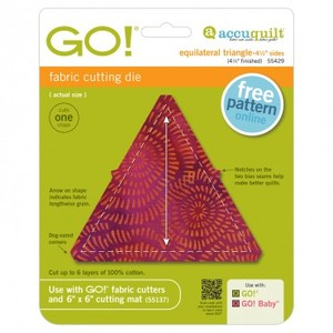 "Accuquilt GO! 55429 Equilateral Triangle Die 4-1/2"" Sides 4-1/4"" Finished"