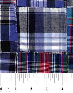 """Fabric Finders 15 Yd Bolt 10.67 A Yd Cotton Patchwork 16 Multi Colored 100% 45"""" Pima Cotton Fabric"""