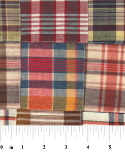 "Fabric Finders 15 Yd Bolt 10.67 A Yd Cotton Patchwork #52 Multi Colored 100% 45"" Pima Cotton Fabric"