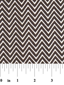 Fabric Finders 15 Yd Bolt 9.33 A Yd 1363 Chocolate Chevron 100% Pima Cotton Fabric 60 inch