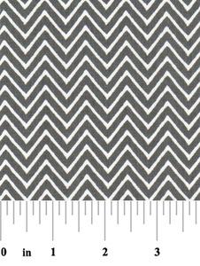 Fabric Finders 15 Yd Bolt 9.33 A Yd 1360-1 Grey Chevron 100% Pima Cotton Fabric 60 inch