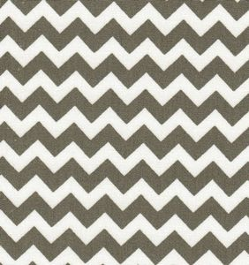 Fabric Finders 15 Yd Bolt 9.33 A Yd 1400-1 Grey Chevron 100% Pima Cotton Fabric 60 inch
