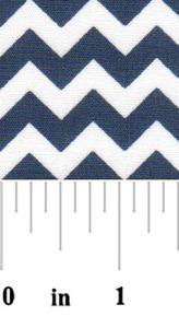 Fabric Finders 15 Yd Bolt 9.33 A Yd 1710 Navy Chevron 100% Pima Cotton Fabric 60 inch