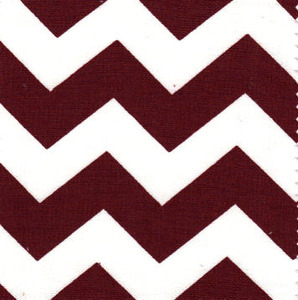 Fabric Finders 15 Yd Bolt 9.33 A Yd 1488 Crimson and White Chevron 100% Pima Cotton Fabric 60 inch