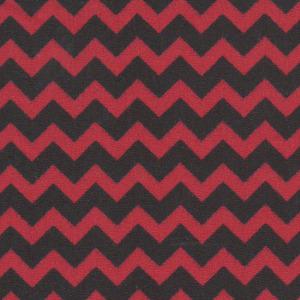 Fabric Finders 15 Yd Bolt 9.33 A Yd 1461 Red/Black Chevron 100% Pima Cotton Fabric 60 inch