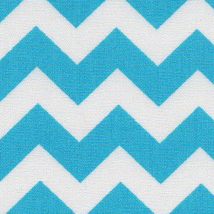 Fabric Finders 15 Yd Bolt 9.33 A Yd 1594 Turquoise Chevron 100% Pima Cotton Fabric 60 inch