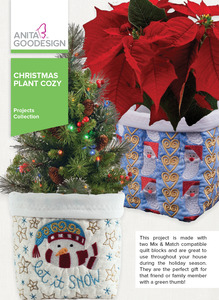 Anita Goodesign PROJ91 Christmas Plant Cozy Project Collection