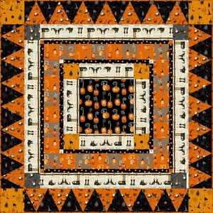 Cheeky Pumpkins Table Topper Quilt kit by studio E
