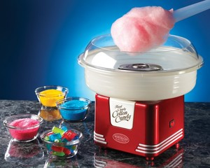 Nostalgia Electrics,PCM405RETRORED,Kitchen Electrics,Cotton Candy Maker, Nostalgia Electrics PCM405RETRORED Retro Series Hard & Sugar Free Cotton Candy Maker