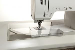 Sew Steady Custom Clear Acrylic Insert for Freearm Sewing Machine Cabinet Top Platform Opening Sizes, Made in the USA!