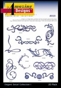 Amazing Designs / Great Notions 1331 Elegant  Detail I Fashion Embroidery Multi-Formatted CD