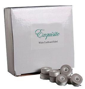 Exquisite EX100 White Style L Cardboard Bobbins (144 per box)