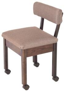 Delta Sewing 200 Walnut  Sewing Chair on Casters