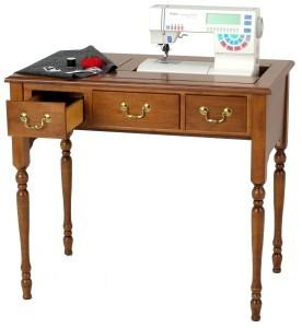 Delta Sewing Machine Cabinet 231 Maple Console with Drawer
