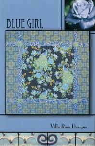 Blue Girl VRD8439 Villa Rosa Design Pattern Card
