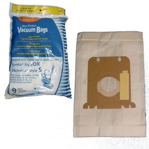 EnviroCare 135-9 Paper Bag, Lux Style S, Eureka OX Micro Env. 9Pk for Electrolux EL6980 EL7000 EL7020, Eureka 6500 6990 CV140 Canister Vacuum Cleaners