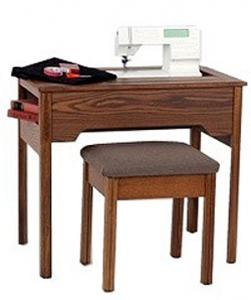Delta Sewing Machine Cabinet 293 Heavy Duty Console in OAK For Flat Bed Machines