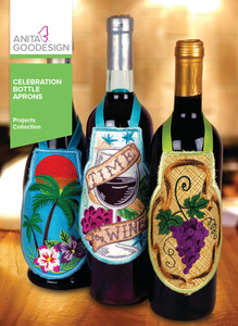 Anita Goodesign PROJ93 Celebration Bottle Aprons Projects Collection