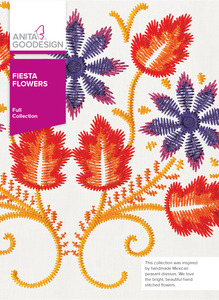 Anita Goodesign 288AGHD Fiesta Flowers Full Collection 20+ Embroidery Designs CD