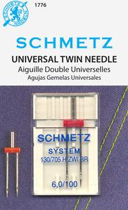 Schmetz S-1776 Universal Twin 6.0/100, 10pkg