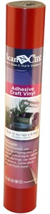 "Brother CAVINYLRD 6 FT x12"" Roll Red Adhesive Craft Vinyl for ScanNCut Cutters CM650W, CM350R, CM550, CM250, CM100"