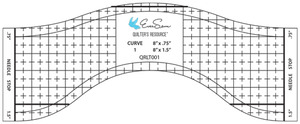 "Eversewn QRLT001 QR Reverse-A-Rule Curve 1 Longarm Template Ruler 1/4"" Thick for Longarm Free Motion Quilting Machines"