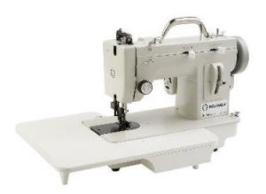 """Reliable 2000U-33 Best Buy Straight Stitch & up to 5mm ZIGZAG Walking Foot All Metal Portable Sewing Machine, Handle, Bottom Cover &16x13"""" Ext Table"""