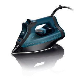 Rowenta DW7180 Everlast Anticalc Steam Iron 1750W, 3-Way Auto Shut-Off, Self Clean, 400 Microsteam Holes, Stainless Steel Soleplate, Germany