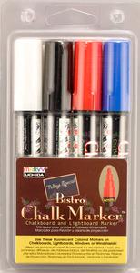 Bistro Chalk Marker Set Black Red Blue White