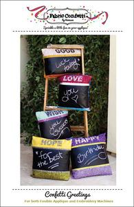 Fabric Confetti Confetti Greetings Embroidery Design Pack