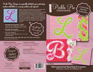 Pickle Pie Designs, Monogrammed Mug Rugs